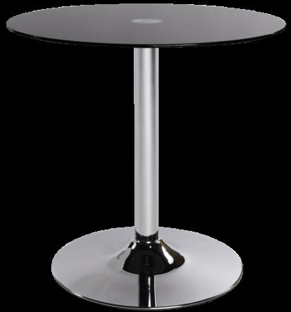 Table Guéridon Steel en verre noir