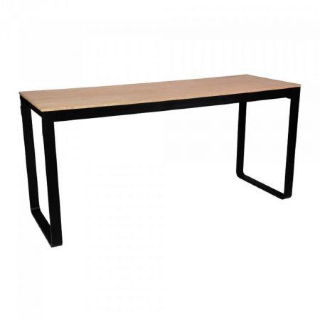 Table haute Flow 230cm - plateau bois