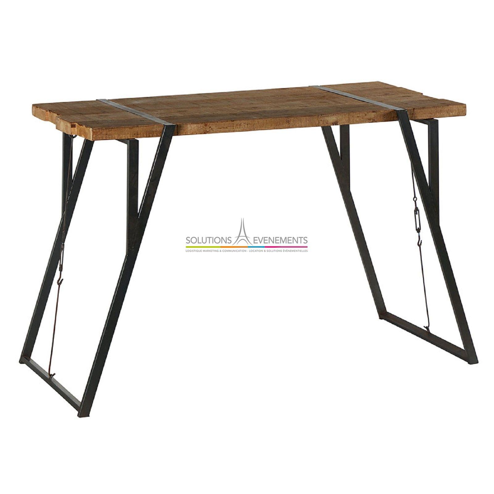 location table haute industrielle vintage evenementiel. Black Bedroom Furniture Sets. Home Design Ideas