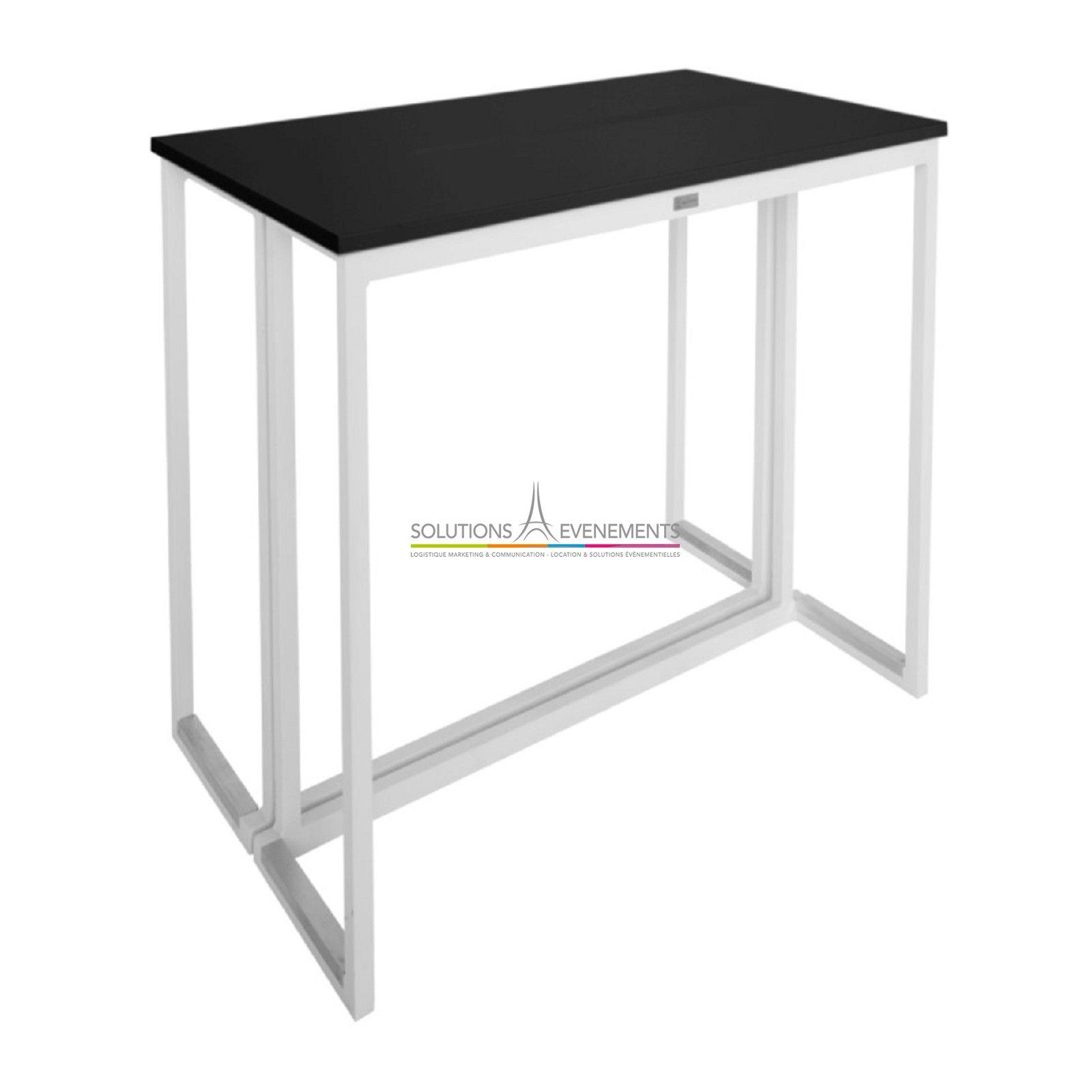 location table haute kubo blanche et noire solutions evenements. Black Bedroom Furniture Sets. Home Design Ideas