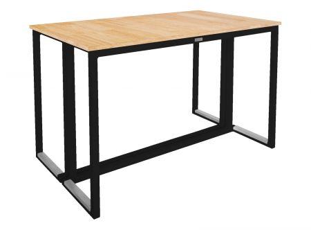 Table Kubo Noire - Plateau Bois