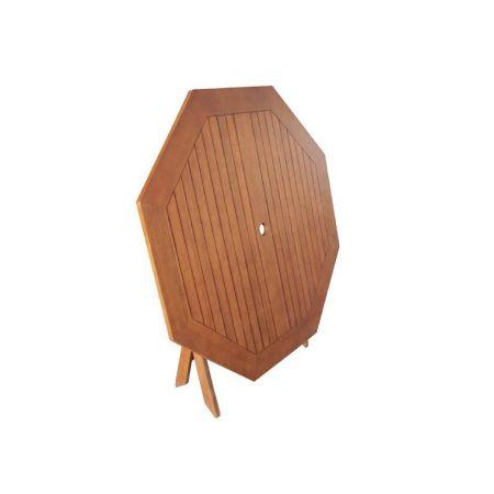 Table octogonale Teck 120cm
