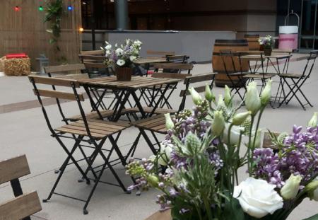 Table pliante latte Square bois