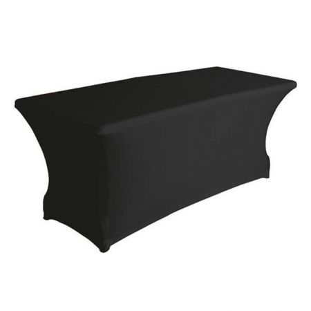 Table rectangulaire 6 à 8 personnes avec housse noire