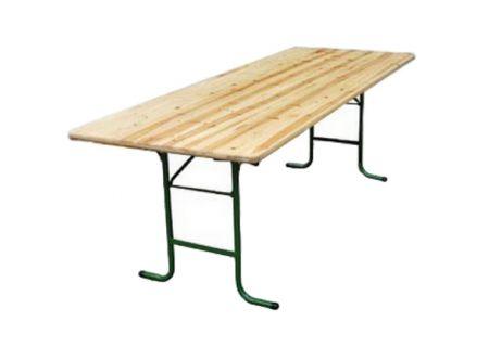 Table rectangulaire bois banquet pour 10 personnes (220x70cm)