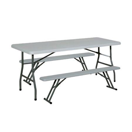 Table rectangulaire HDPE 6 à 8 personnes (180x76cm)