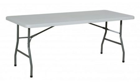 Table rectangulaire HDPE 6 à 8 personnes (183x76cm)