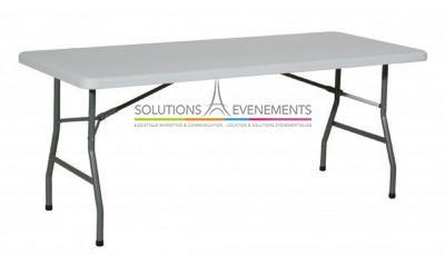 Table rectangulaire HDPE 6 à 8 personnes (183x76cm)