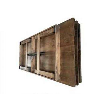 Table vintage rectangulaire en bois 8 personnes