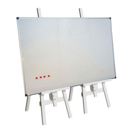 Tableau blanc magnétique avec support