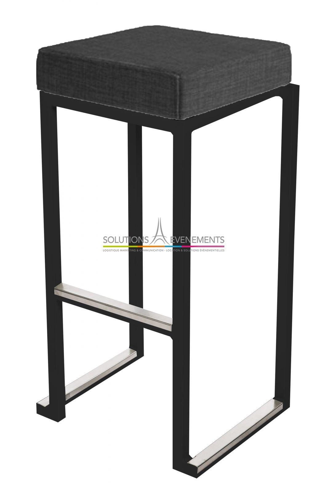 location tabouret haut kubo noir solutions evenements. Black Bedroom Furniture Sets. Home Design Ideas