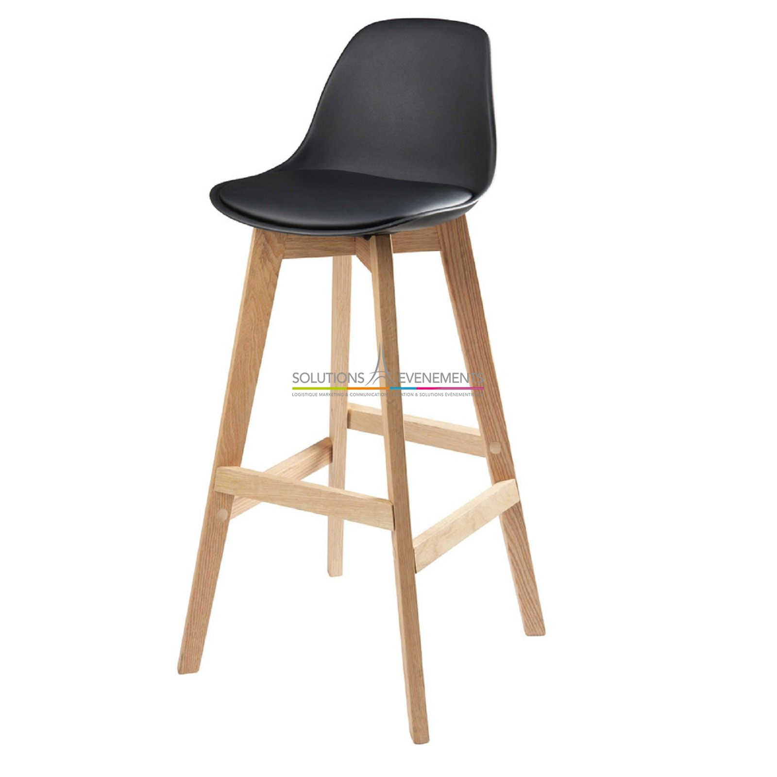 Location Tabouret Bar Haut Scandinave Oslo Noir
