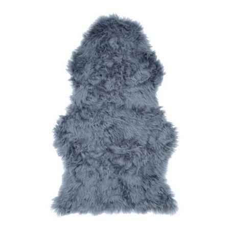 Tapis fourrure gris clair 60 x 100cm