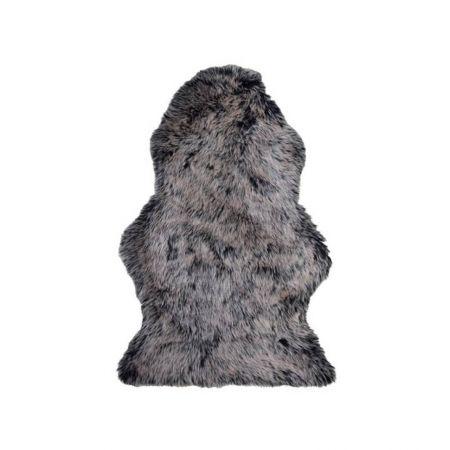 Tapis fourrure gris foncé 60 x 100cm