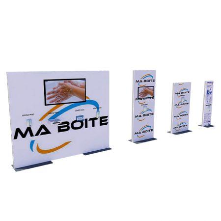 Totem Covid-19 distributeur gel hydroalcoolique