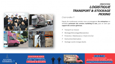 Transport - Stockage - Logistique Evenementielle